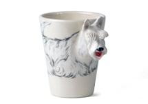 Picture of Wheaten Scottish Terrier Handmade 8oz Coffee Mug White