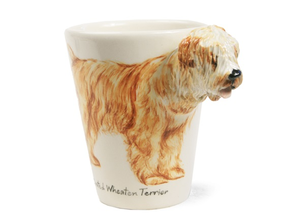 Picture of Wheaten Terrier Handmade 8oz Coffee Mug Mahogany