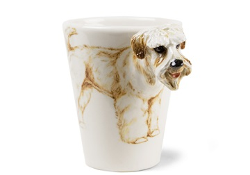 Picture of Wheaten Terrier Handmade 8oz Coffee Mug Soft Coated