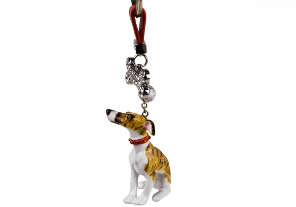 Picture of Whippet Handmade Mini Key Ring Brindle
