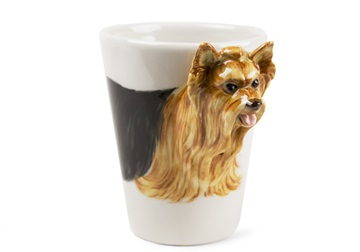 Picture of Yorkshire Terrier Handmade 8oz Coffee Mug Tan