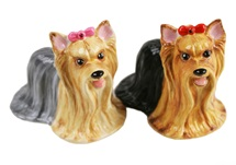 Picture of Yorkshire Terrier Handmade Mini Cruet Set Tan