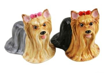 Picture of Yorkshire Terrier Handmade Mini Cruet Set Tan