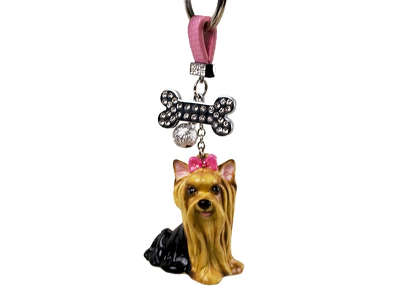 Picture of Yorkshire Terrier Handmade Mini Key Ring Tan