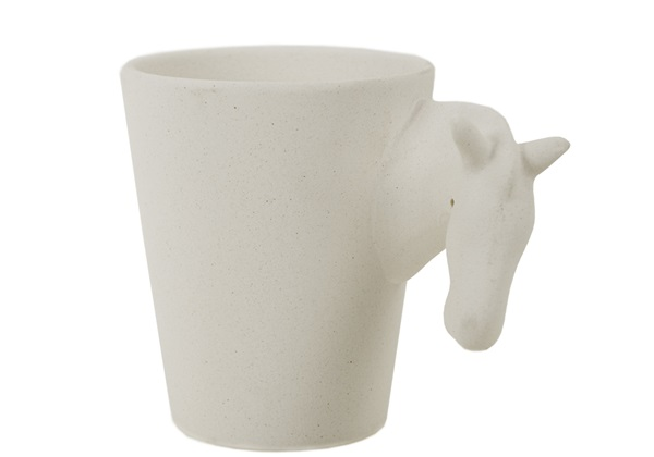 Picture of Zebra Handmade Ceramic 8oz Coffee Mug Unpainted