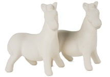 Picture of Zebra Handmade Unpainted Ceramic Mini Unpainted Cruet Set Unglazed