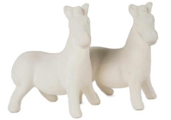 Picture of Zebra Handmade Unpainted Ceramic Mini Unpainted Cruet Set Unglazed