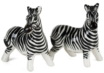 Picture of Zebra Handmade Mini Cruet Set White Stripe