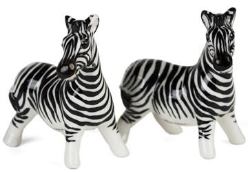 Picture of Zebra Handmade Mini Cruet Set White Stripe