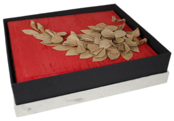 Picture of Flaura Handmade Large Photo Album Red