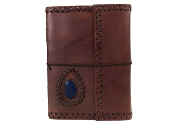 Picture of Ra Large Chestnut Handmade Leather Bound Stone Journal