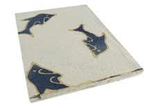 Picture of Batik Dolphin A4 Handmade Paper Blue