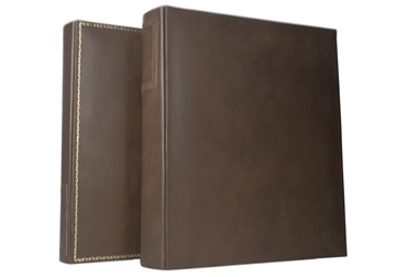 Picture of Esecutivo Extra Large Leather Chestnut Handmade Lever arch files Ring Binder