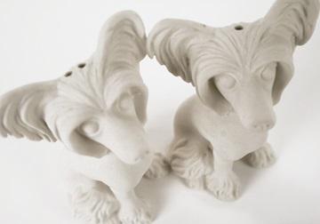 Picture of Chinese Crested Mini Unglazed Handmade Unpainted Ceramics Cruet Set