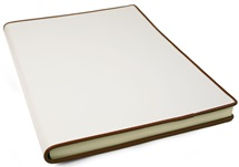 Picture of Cortona Handmade Italian Leather Bound A4 Journal White lined