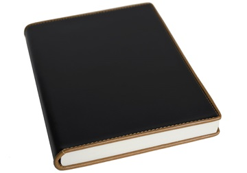 Picture of Cortona Handmade Italian Leather Bound A5 Journal Black Plain