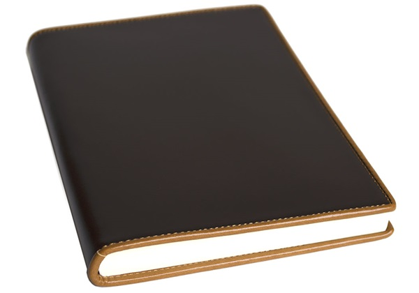 Picture of Cortona Handmade Italian Leather Bound A5 Journal Chocolate Plain