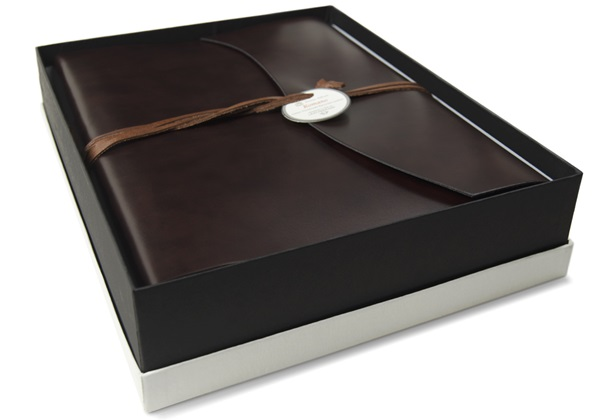 Picture of Romano Handmade Recycled Leather Wrap Large Photo Album Rustic