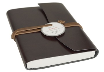 Picture of Romano Handmade Recycled Leather Wrap A6 Journal Rustic Plain