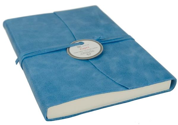 Picture of Capri Handmade Italian Leather Wrap A5 Journal