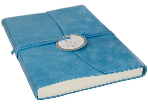 Picture of Capri Handmade Italian Leather Wrap A6 Journal