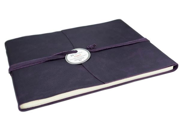 Picture of Capri Handmade Italian Leather Wrap Extra Large Guest Book