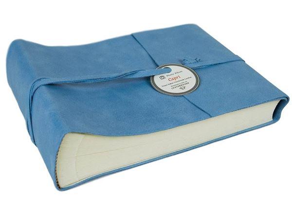 Picture of Capri Handmade Italian Leather Wrap Small Photo Album