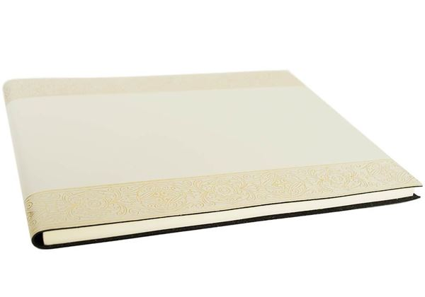 Picture of Angelus Handmade Italian Recycled Leather Bound Extra Large Guest Book