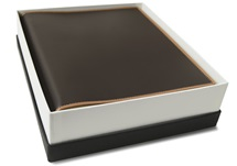Picture of Cortona Handmade Italian Leather Bound Medium Photo Album Chocolate