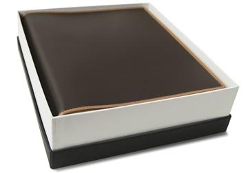 Picture of Cortona Handmade Italian Leather Bound Medium Photo Album Chocolate