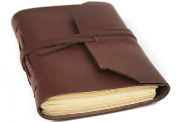Picture of Indra Handmade Leather Wrap Mini Journal