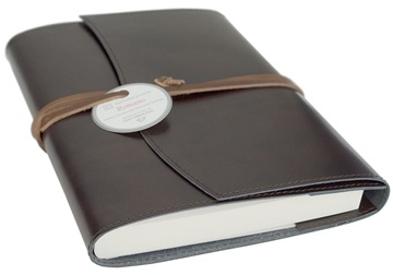 Picture of Romano Handmade Recycled Leather Wrap A6 Refillable Journal Rustic Plain