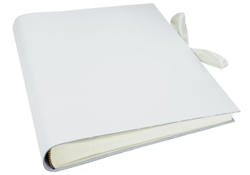 Picture of Puro Handmade Italian Leather Bound Medium Photo Album White