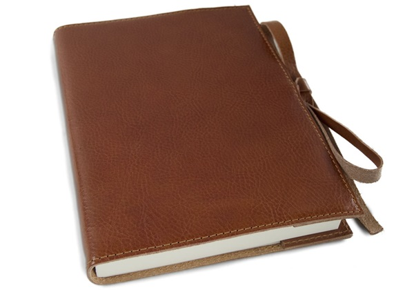 Picture of Rustico Handmade Leather Bound A5 Refillable Journal Saddle Brown Plain