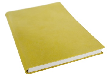 Picture of Italiano Handmade 100 % Italian Genuine Calf Leather A5 Journal Top-grain Mustard Plain
