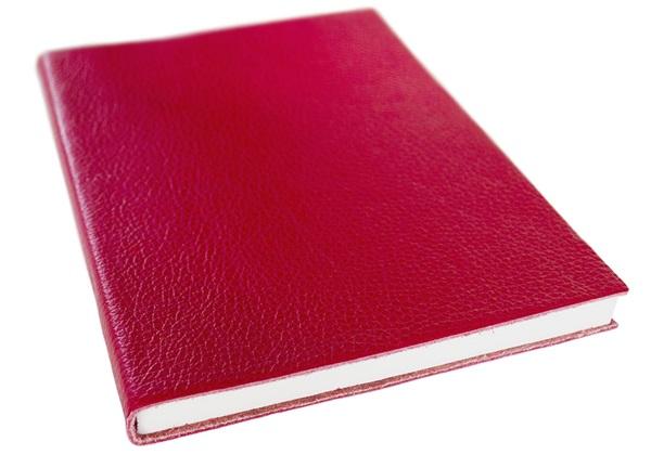 Picture of Italiano Handmade 100 % Italian Genuine Calf Leather A5 Journal Top-grain Red Plain