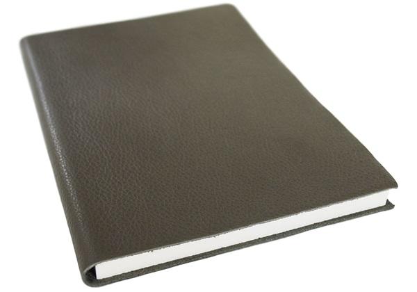 Picture of Italiano Handmade 100 % Italian Genuine Calf Leather A5 Journal Top-grain Olive Plain