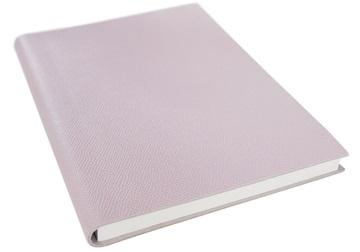 Picture of Italiano Handmade 100 % Italian Genuine Calf Leather A5 Journal Cross-grain Pink Plain