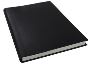 Picture of Italiano Handmade 100 % Italian Genuine Calf Leather A5 Journal Spazzolato Black Plain