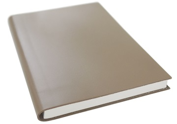 Picture of Italiano Handmade 100 % Italian Genuine Calf Leather A5 Journal Spazzolato Truffle Plain