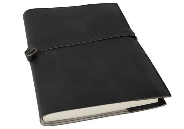 Picture of Nabucco Handmade Leather Bound A5 Refillable Journal Black Plain