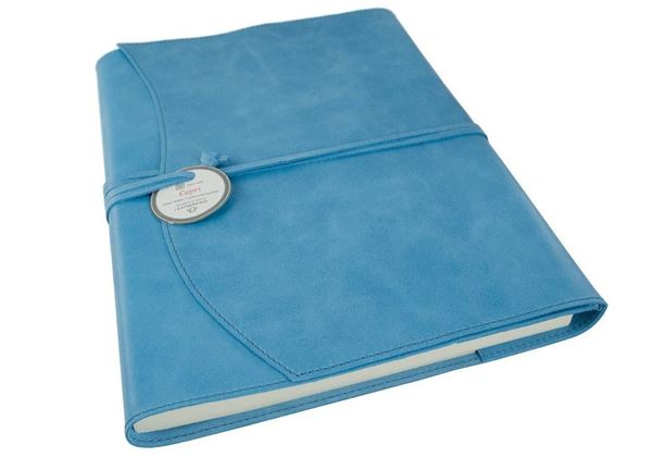 Picture of Capri Handmade Italian Leather Wrap A4 Refillable Journal