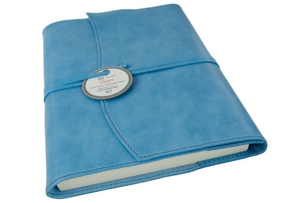 Picture of Capri Handmade Italian Leather Wrap A5 Refillable Journal