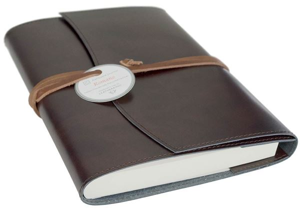 Picture of Romano Handmade Recycled Leather Wrap A5 Refillable Journal