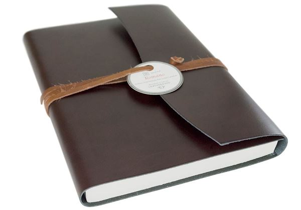 Picture of Romano Handmade Recycled Leather Wrap A5 Journal
