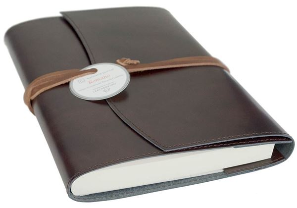 Picture of Romano Handmade Recycled Leather Wrap A6 Refillable Journal