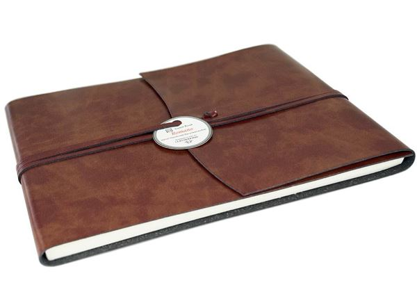 Picture of Romano Handmade Recycled Leather Wrap Extra Large Guest Book