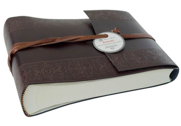 Picture of Maya Handmade Recycled Leather Wrap Small Photo Album