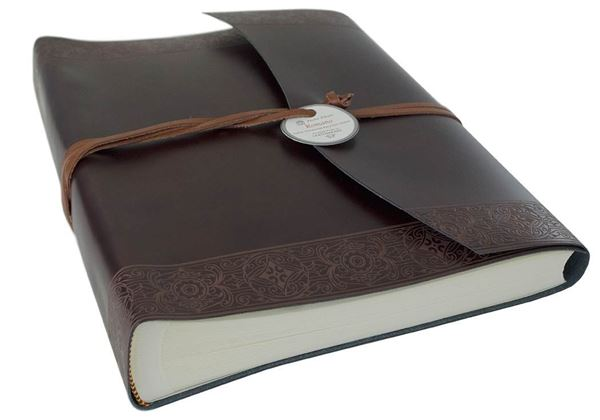 Picture of Maya Handmade Recycled Leather Wrap Large Photo Album
