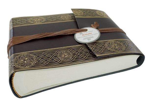 Picture of Olympia Handmade Recycled Leather Wrap Small Photo Album